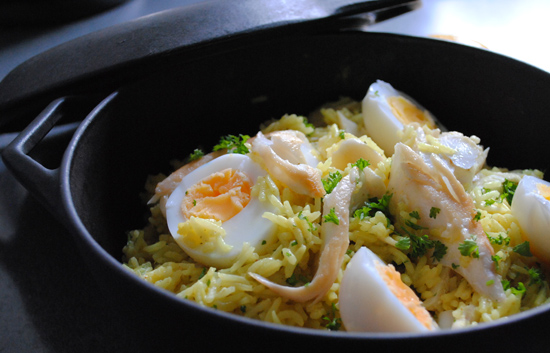 A Kedgeree Breakfast with Bradley Smoked Ling