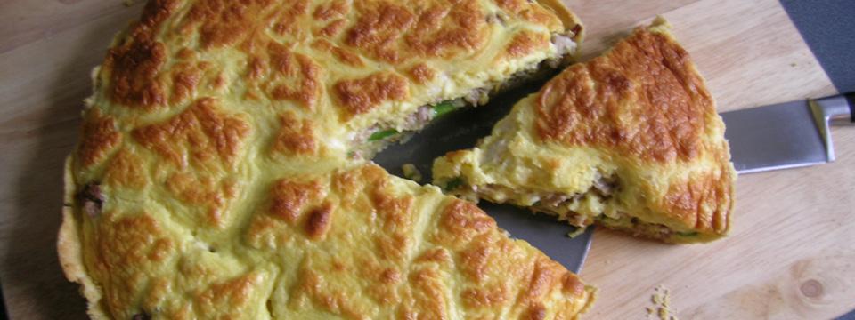 Smoked Turkey, Asparagus & Goat's Cheese Tart